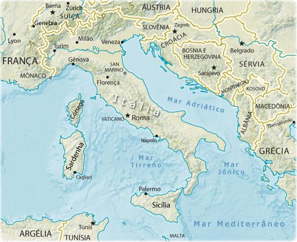Guia geográfico - guia geográfico - mapas da itália, europa