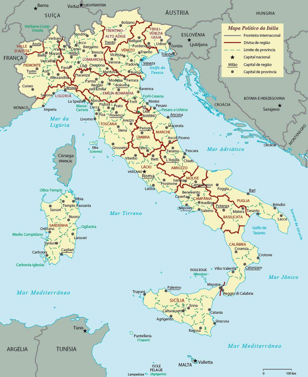 Mapa Politico Da Italia